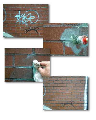Graffiti auf Klinker